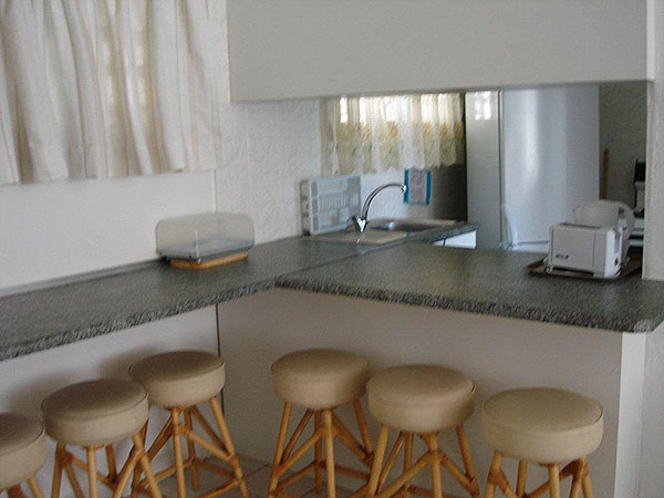 Open plan kitchen with microwave All Cabanas come standard with TV and